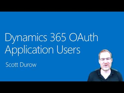 OAuth Application Users In Dynamics 365