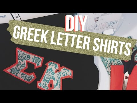 photograph about Printable Greek Letter Stencils for Shirts identified as Do it yourself Greek Letter Shirts Dana Jean - YouTube