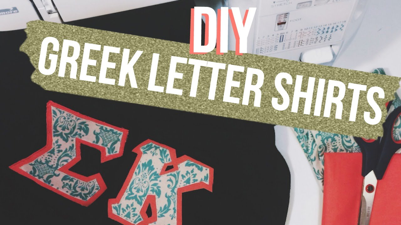 DIY Greek Letter Shirts