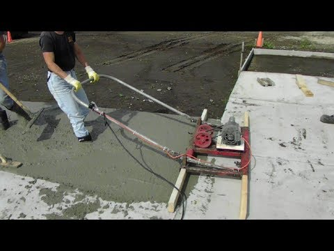 Linda Running Electric Concrete Screed