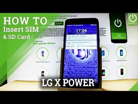 How to Insert SIM & SD in LG X Power - Set Up SIM and SD Card