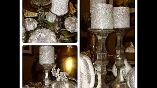 DIY   Dollar Tree Faux Mercury Glass Candlestick Holders (Z Gallerie Inspired)