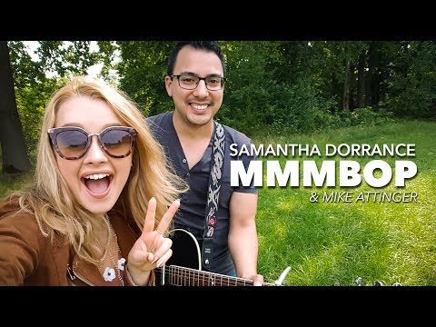 Hanson - MMMBOP - Acoustic guitar cover by Samantha Dorrance & Mike Attinger