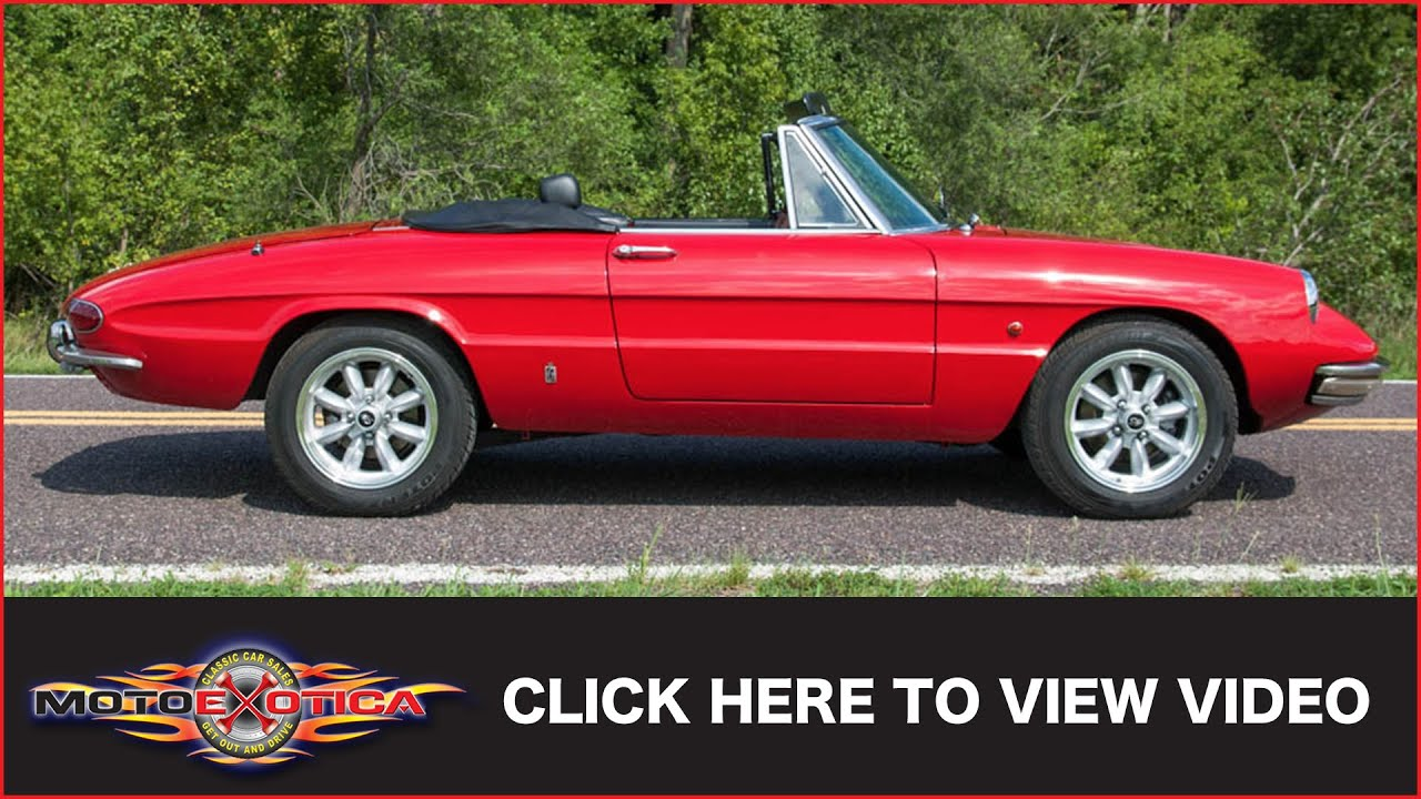 Alfa Romeo Spider Duetto SOLD YouTube - 1967 alfa romeo spider for sale