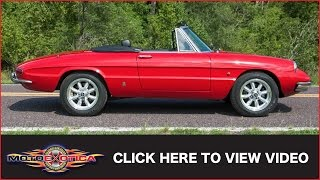 1967 Alfa Romeo Spider Duetto (SOLD)