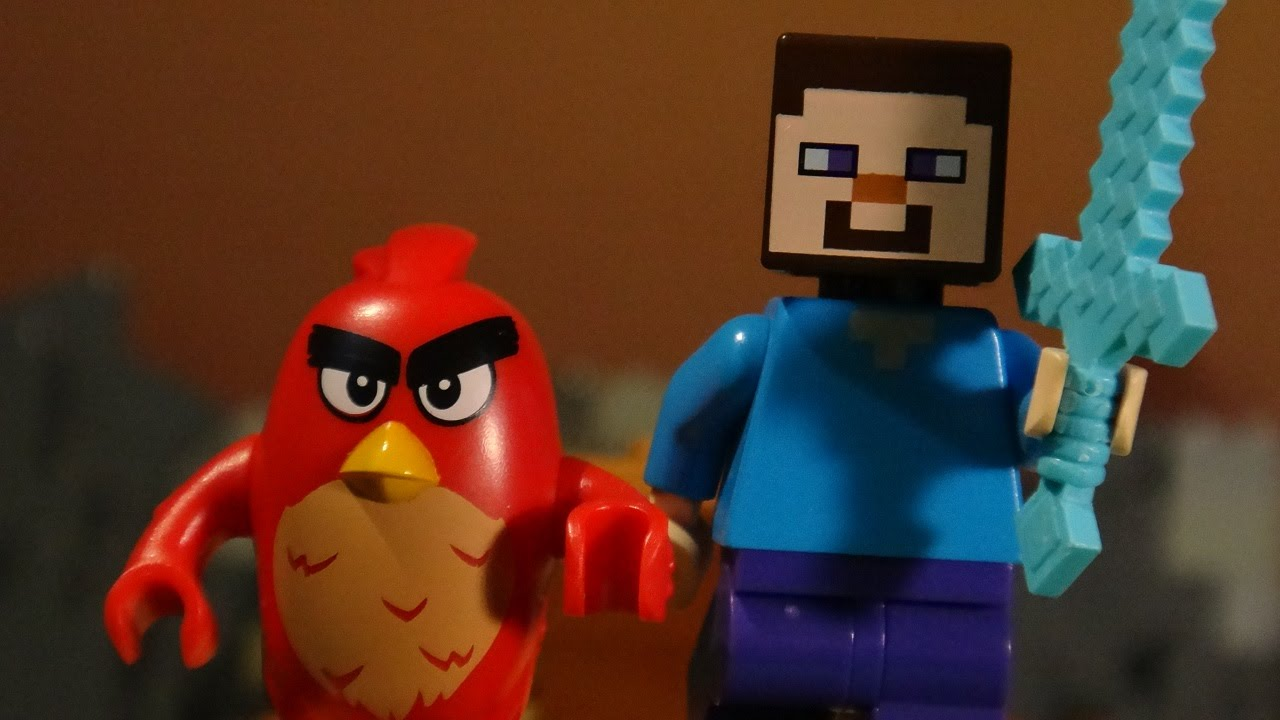Lego Angry Birds In Minecraft Youtube