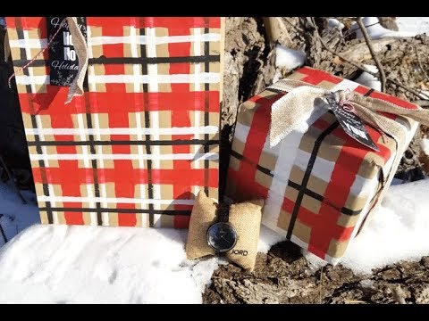 DIY Plaid Holiday Wrapping Paper