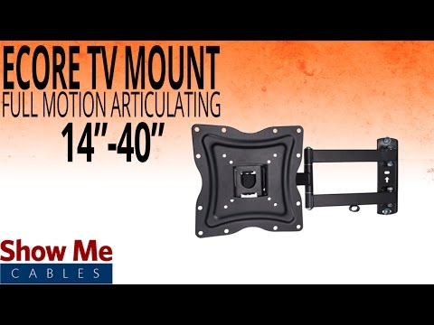 "How To Install A Full Motion Articulating TV Mount For TV's Between 14"" To 40"" #17-415-001"