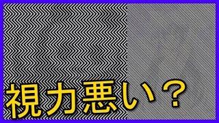 【錯覚の絵】視力が悪い人にしか見えない文字と画像!!【あなたは見え...