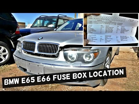 bmw e65 e66 fuse box location and diagram 745i 745li 750i 750li 760li 730i  735i 730d 735d - youtube