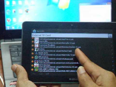 การลง Application ของแท็บเล็ต