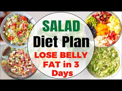Weight Loss Salad Diet Plan Lose Belly Fat in 3 days with a Healthy Salad Recipes for Weight Loss