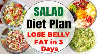 Weight loss salad diet plan for fast | lose belly fat in 3 days with recipes by vibrant varsha the best low carb, low-cal...
