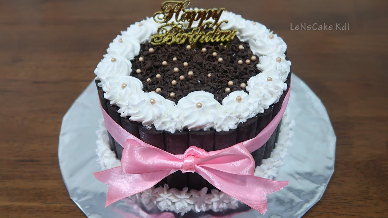 Birthday Cake Chocolate Black Forest Mini Decoration Simple Cake Tart