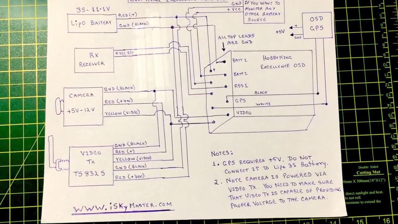 """Résultat de recherche d'images pour """"Hobbyking OSD-Mini wiring"""""""