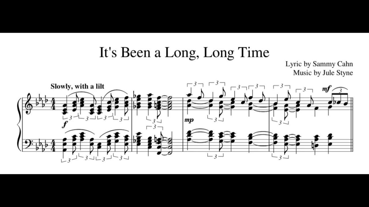 It's Been a Long, Long Time / piano cover with sheet music Chords ...