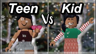 Teens VS Kinder Weihnachten Ed. | ROBLOX