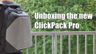 Unboxing the new ClickPack Pro anti-theft travel backpack