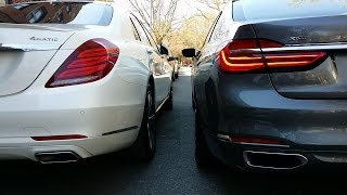 Кто кого?! BMW 750 против Mercedes S550