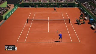 AO International Tennis - Andre Agassi vs David Goffin - PC Gameplay