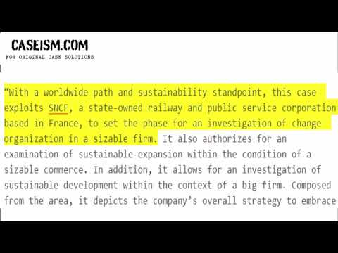Sustainable Procurement at SNCF: An Impressionist's Approach Case Study Help - Caseism.com