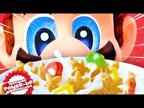 Super Mario Cereal but some funny stuff happens