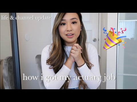 HOW I GOT MY ACTUARY JOB  | LIFE & CHANNEL UPDATE