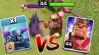 WHO IS STRONGER? 2!!!🔸MAX PEKKA vs. LVL 44 KING!!🔸 Clash of clans