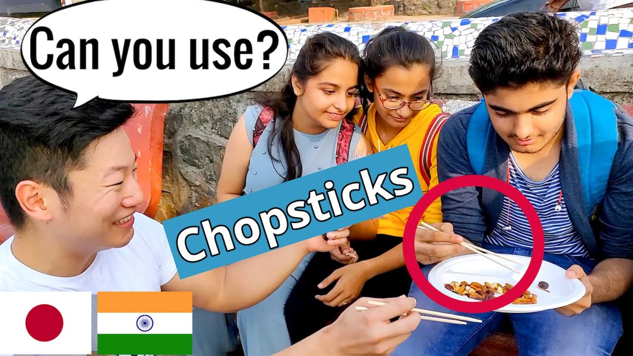 Chopsticks Challenge with Indian People - Japanese in Mumbai