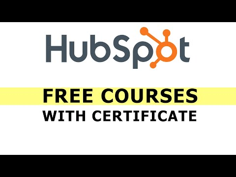 HubSpot Academy free Digital Marketing Course with certificate
