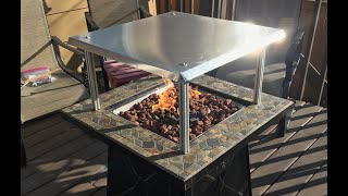 Heat Deflector For A Propane Fire Pit Youtube