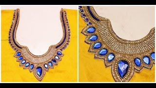 Blouse Designer Neckline Ready made Patch Attachment (DIY)