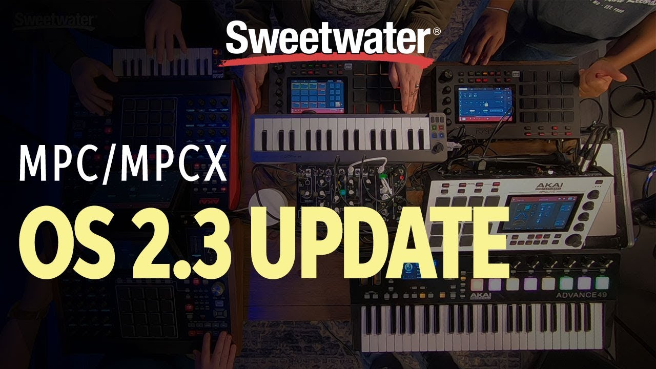 Akai Professional MPC X and MPC Live OS 2 3 Update Demo | Sweetwater