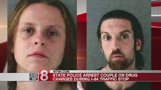 2 arrests made after police find 110 bags of heroin during Tolland traffic stop