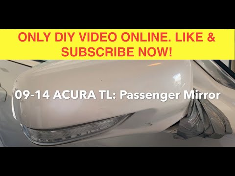*HIT #Subscribe* #Acura TL: #PASSENGER/#DOOR #MIRROR REPLACEMENT. Easy to do!