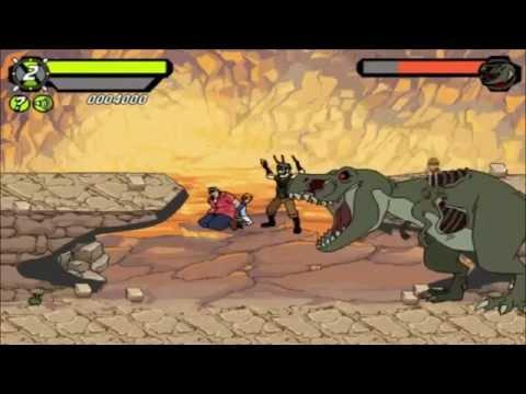 Бен Тен погоня в джунглях игра Ben 10 savage pursuit game