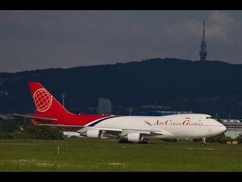 Air Cargo Global B744 OM-ACA Bratislava Landing