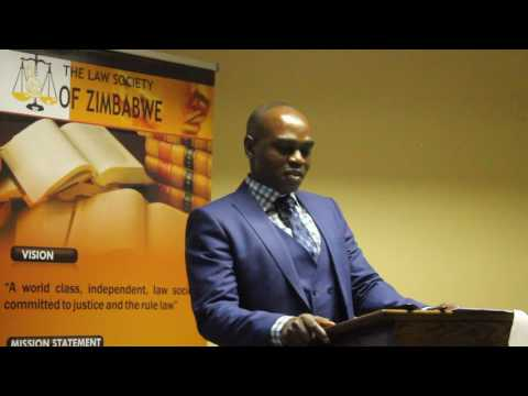 President of the Law Society Of Zimbabwe , M. Hogwe comments on the importance  of self regulation