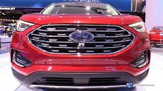 2019 Ford Edge Titanium - Exterior and Interior Walkaround - 2018 Detroit Auto Show
