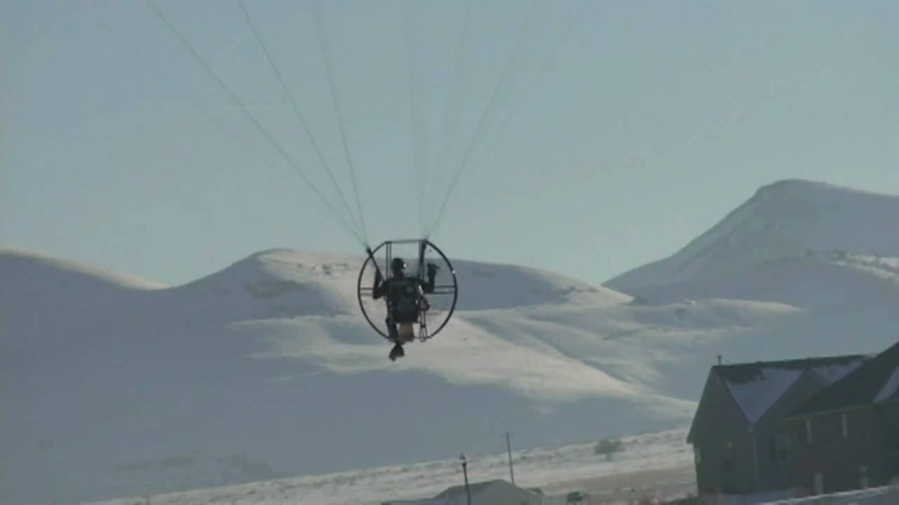 Powered Paraglider Escapes Death!!! Flat Top Paramotor Aircraft Hits Ground  But Pilot Survives!!!!