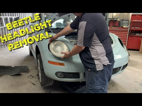 How to Replace Headlight or Bulb 98-11 Volkswagen Beetle – Bug