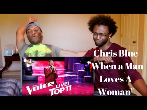 The Voice 2017 Chris Blue  Top 11: When A Man Loves A Woman REACTION