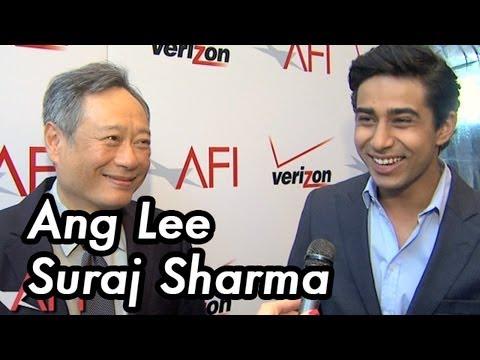 AFI AWARDS 2012 Interview with LIFE OF PI's Ang Lee and Suraj Sharma