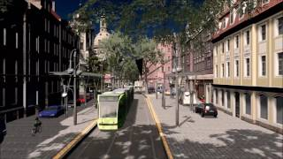 Cities: Skylines - FIRST PERSON TRAM RIDE IN A GERMAN CITY