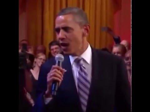 """Обама поет песню """"Путин Молодец!"""" В.В. смеется!!! Ржач)))"""