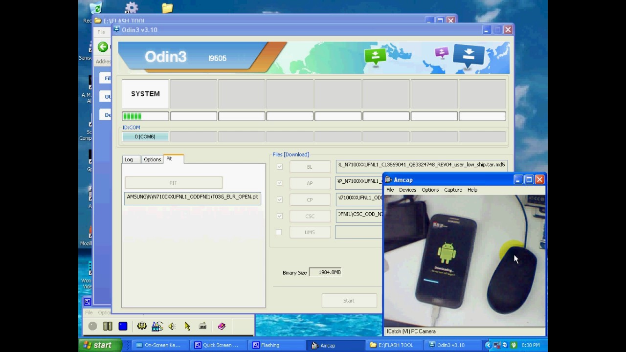 Flash Samsung Galaxy Note 2 N7100 100% done odin tool by Smart Phone Help