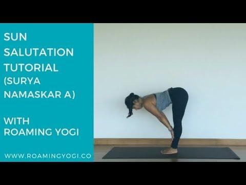sun salutation tutorial surya namaskar a  youtube