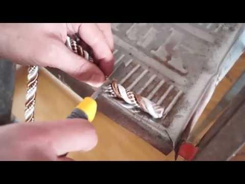Как клеить декоративный шнур