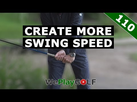 Create more speed in your GOLF swing with this exercise!