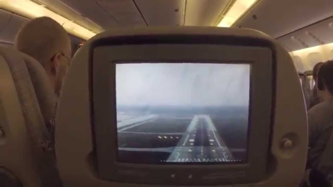Emirates 777 300er front camera landing in d sseldorf - Emirates camera ...
